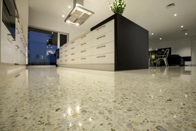 polished concrete floor. are polished concrete floors slippery floor g